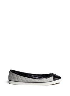TORY BURCH'Skyler' quilted flannel flats