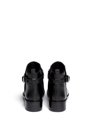 Back View - Click To Enlarge - Tory Burch - 'Bloomfield' chain strap leather ankle boots