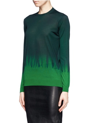 Front View - Click To Enlarge - Stella McCartney - Tie dye wool-silk sweater