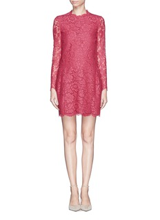 VALENTINO Floral lace pleat dress