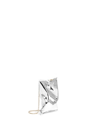 Detail View - Click To Enlarge - Anya Hindmarch - 'Crisp Packet' metal clutch