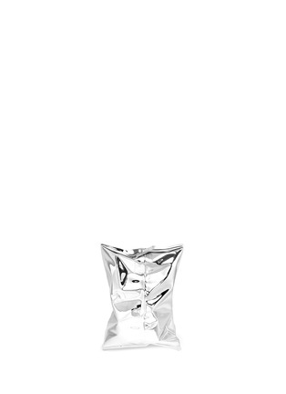Back View - Click To Enlarge - Anya Hindmarch - 'Crisp Packet' metal clutch