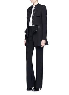 Alexander McQueenSplit waist wool-silk coat