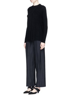 The Row'Courtney' cashmere cross front sweater