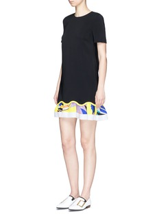 Emilio Pucci Abstract print skirt wavy hem dress