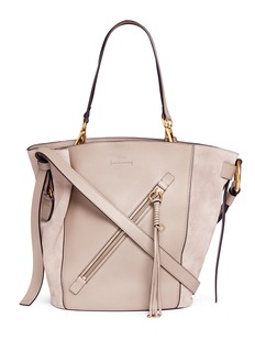 Chloé 'Myer' medium suede and leather double carry bag