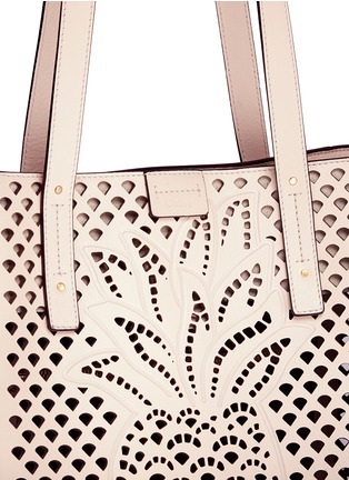 - Chloé - 'Milo' medium pineapple embossed perforated leather tote