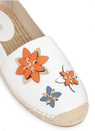 Detail View - Click To Enlarge - Michael Kors - 'Heidi' floral embellished leather espadrilles