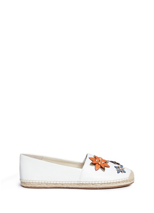 Main View - Click To Enlarge - Michael Kors - 'Heidi' floral embellished leather espadrilles