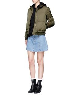 Topshop'Carter' drawstring puffer jacket