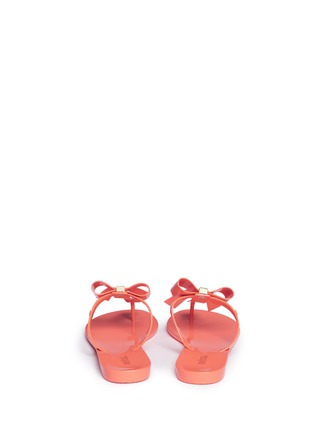 Back View - Click To Enlarge - Melissa - 'T Bar V' bow flip flops