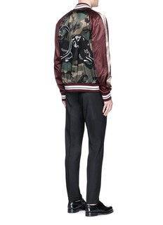 Valentino Panther embroidered satin souvenir jacket