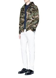 ValentinoSelvedge camouflage print windbreaker jacket