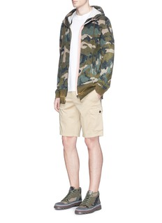 ValentinoSelvedge trim camouflage print zip hoodie