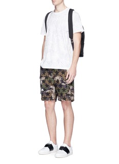 Valentino'Camustars' butterfly print cotton cargo shorts