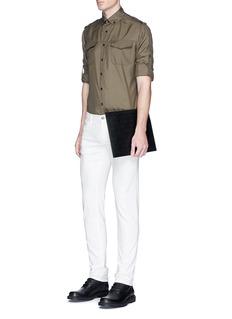 ValentinoShoulder and sleeve epaulette silk shirt