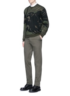 ValentinoDetachable belt cotton twill pants