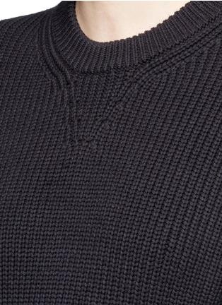 Alexander Wang -Contrast hem chunky rib knit sweater