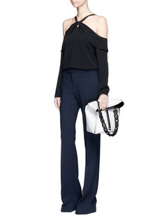 Proenza Schouler Off-shoulder satin back crepe blouse