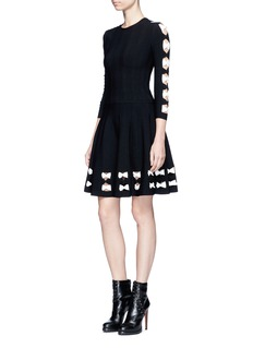 Alexander McQueen Twisted cutout hem knit skirt