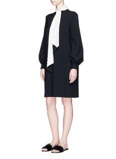 LanvinSilk sash wool crepe dress
