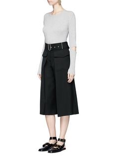 Acne Studios'Inez Struct' belted flare wool culottes