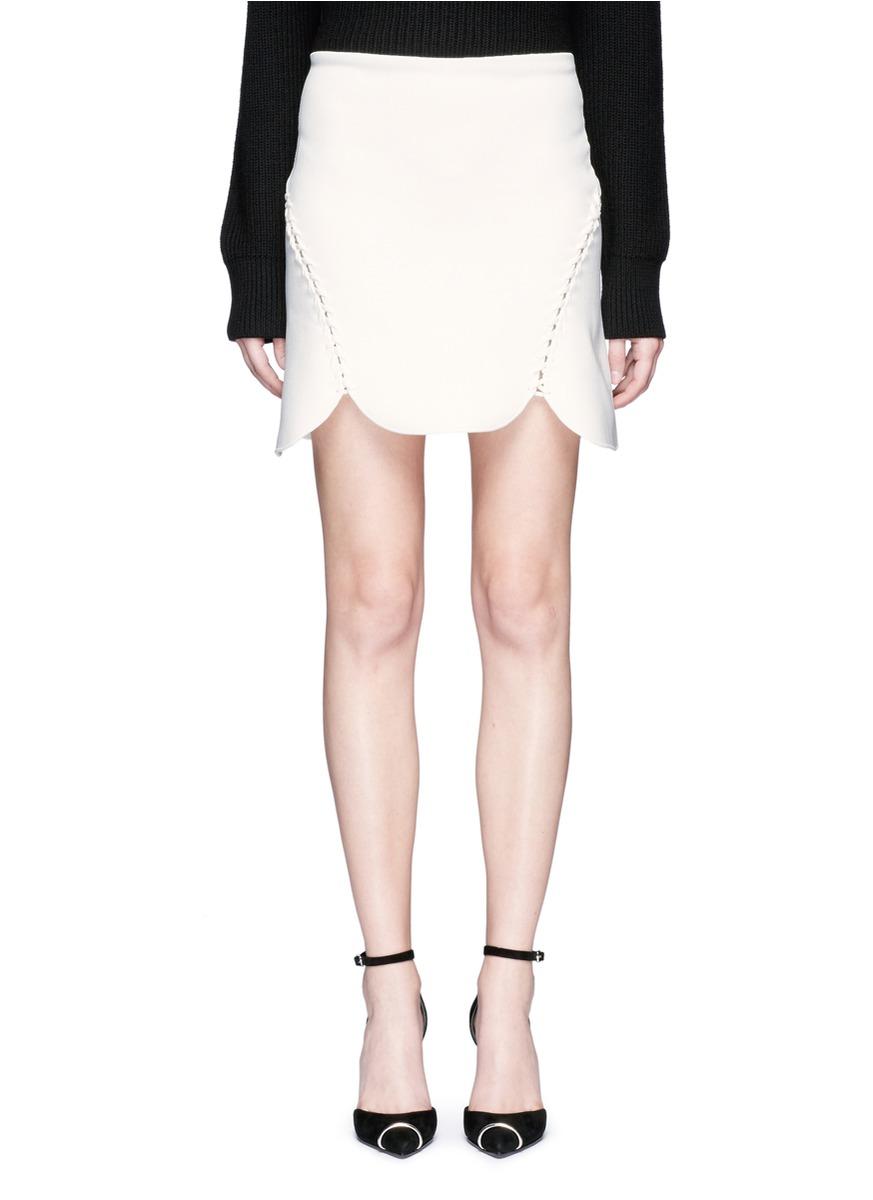 Laced cutout knit skirt by Alexander Wang