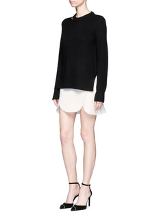 Alexander Wang  Laced cutout knit skirt