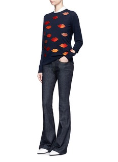 VICTORIA, VICTORIA BECKHAMLip appliqué sweater