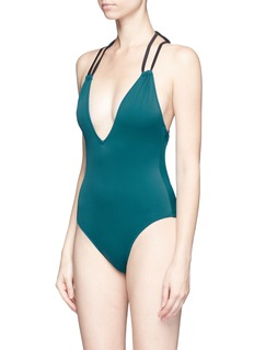 Solid & Striped 'Alexandra' cross back halterneck one-piece swimsuit