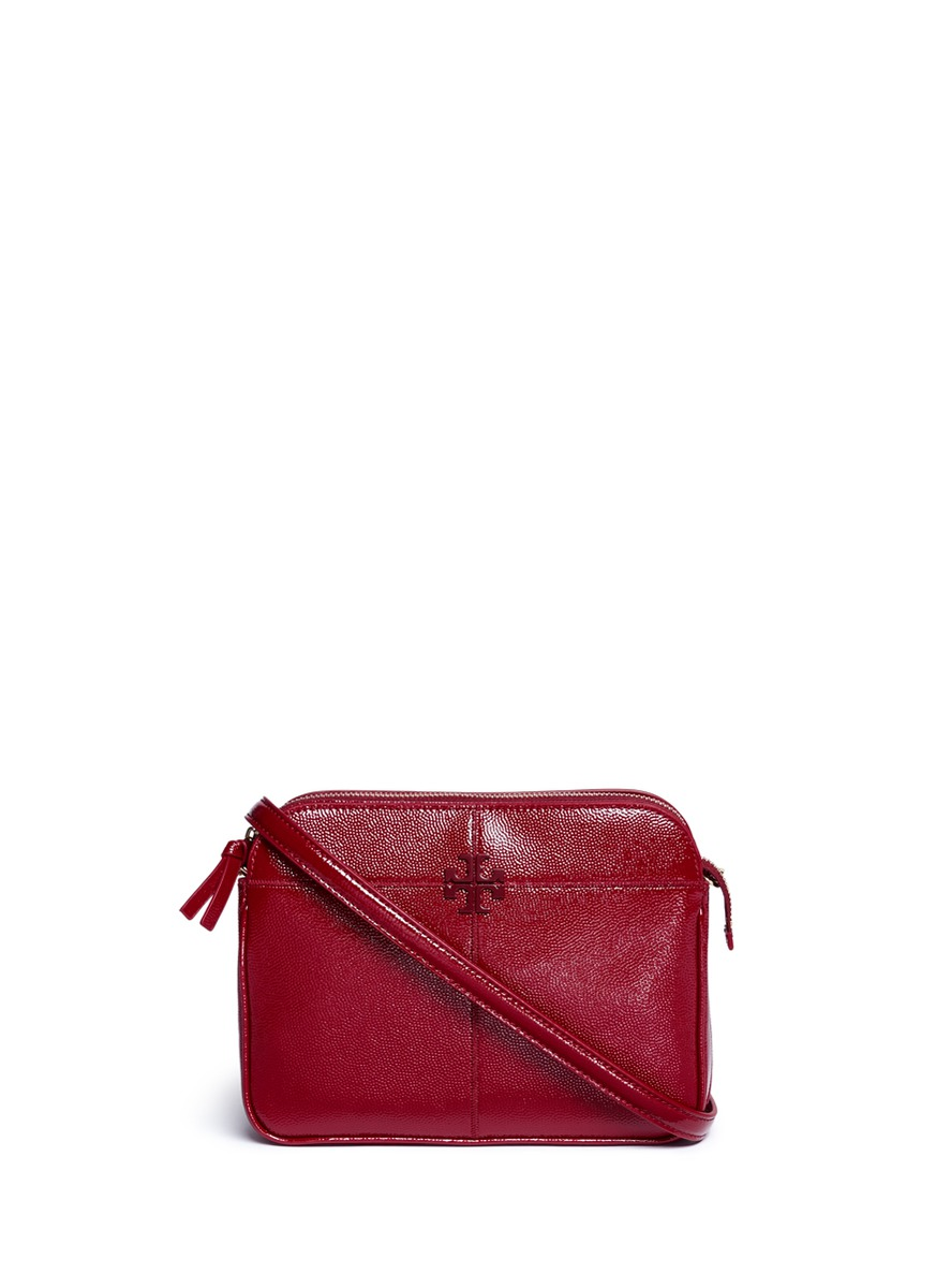 Ivy patent leather crossbody chain bag by Tory Burch