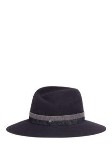 Maison Michel'Virginie' fabric band furfelt fedora hat
