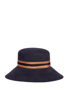Maison Michel'Kendall' bleached band rabbit furfelt hat