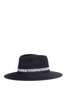 Maison Michel'Charles' marled band furfelt fedora hat
