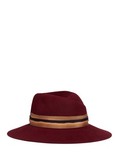 Maison Michel'Virginie' bleach effect band rabbit furfelt hat