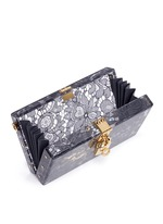 'Dolce Box' inset Taormina lace Plexiglas clutch
