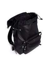 Natural grain leather backpack