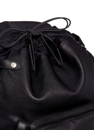 Detail View - Click To Enlarge - Lanvin - Natural grain leather backpack