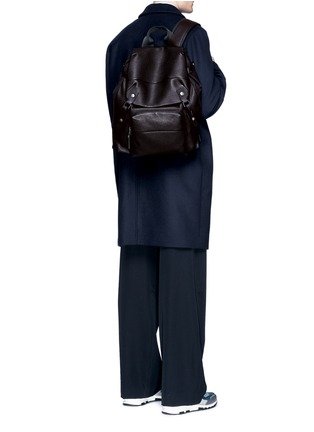 Figure View - Click To Enlarge - Lanvin - Natural grain leather backpack