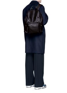 LanvinNatural grain leather backpack