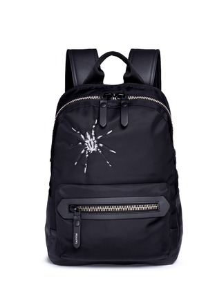 Main View - Click To Enlarge - Lanvin - Spider embroidery nylon backpack