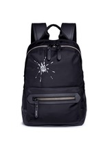 Spider embroidery nylon backpack