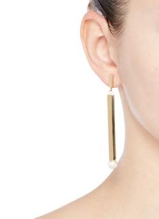 Chloé'Darcey' Swarovski pearl bar drop earrings