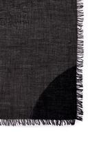 Circle colourblock virgin wool-silk scarf