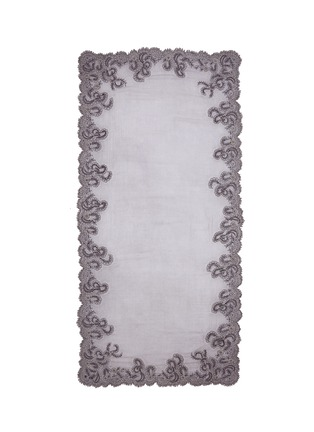 Main View - Click To Enlarge - Faliero Sarti - Floral embroidered border cotton-blend scarf