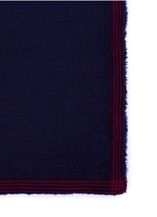 Detail View - Click To Enlarge - Faliero Sarti - Contrast stripe border modal-virgin wool scarf