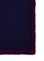 Contrast stripe border modal-virgin wool scarf