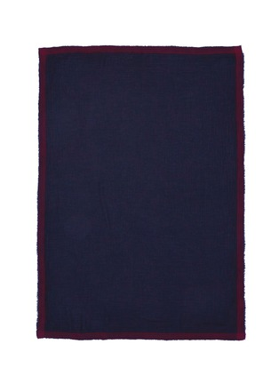 Main View - Click To Enlarge - Faliero Sarti - Contrast stripe border modal-virgin wool scarf