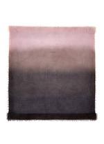 Ombré silk-virgin wool-cashmere scarf