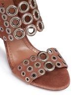 Eyelet slingback suede sandals